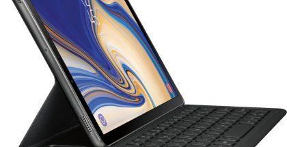 Samsung Galaxy Tab S4 näppäimistön ja S Pen -kynän kera.