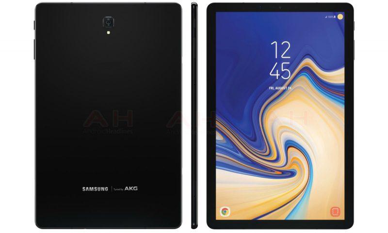 Väitetty Samsung Galaxy Tab S4 AndroidHeadlines-sivuston julkaisemassa kuvassa.