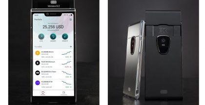 Sirin Labsin Finney-lohkoketjupuhelimessa on toinen esiin nouseva näyttö transaktioita varten.