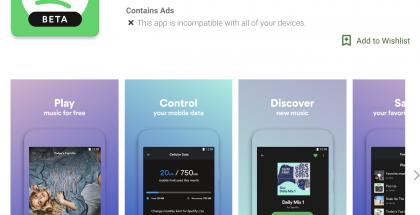 Spotify Lite Google Play -sovelluskaupassa.