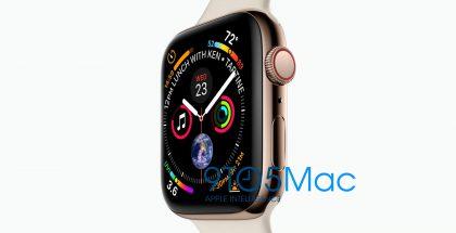 Uusi Apple Watch, 9to5Mac-sivuston julkaisemassa vuotokuvassa.