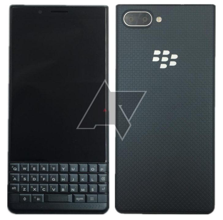 BlackBerry KEY2 LE. Android Police -sivuston julkaisema vuotokuva.