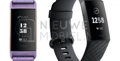 Tuleva Fitbit Charge 3 Nieuwe Mobiel -sivuston kuvissa.