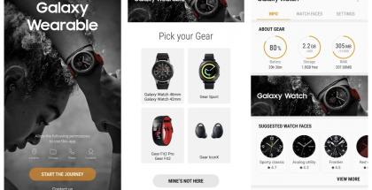 Aiempi Gear-sovellus on päivittynyt Galaxy Wearable -nimiseksi.