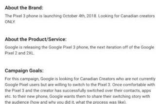 Kampanja mainitsee Pixel 3:n olevan tulossa 4. lokakuuta.