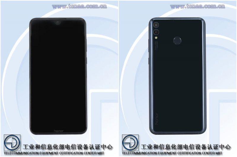 Honor-älypuhelin mallikoodilla ARE-AL00 kiinalaisviranomaisen TENAAn kuvissa.