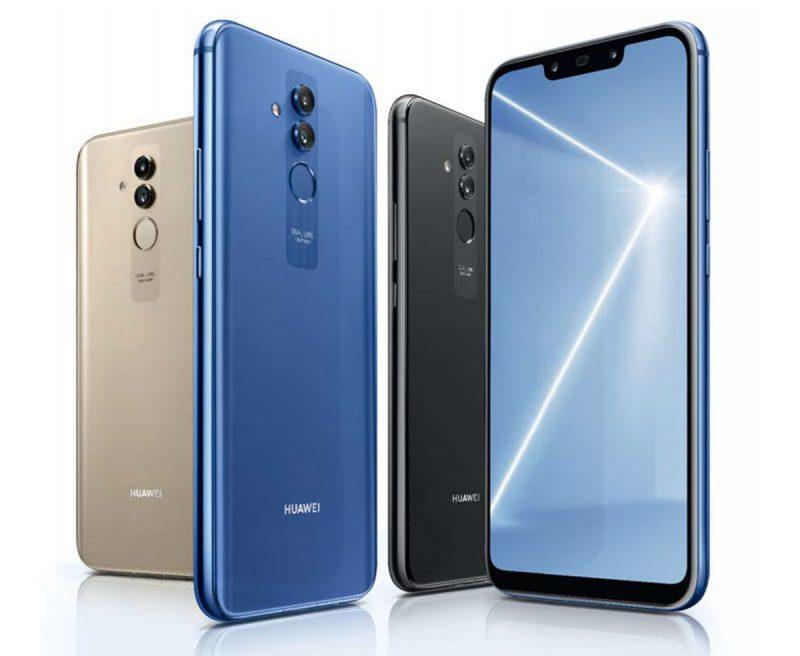 Huawei Mate 20 Liten värivaihtoehdot.