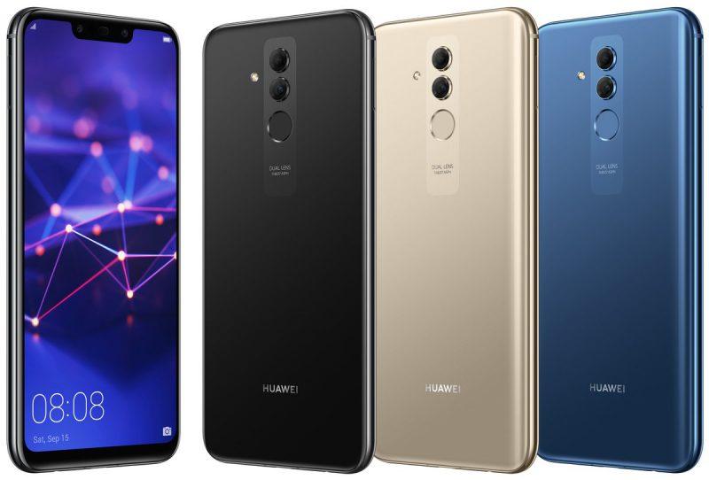 Huawei Mate 20 Lite kolmena eri värivaihtoehtona Evan Blassin Twitterissä vuotamassa kuvassa.