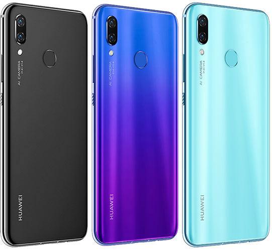 Nova 3:n kolme Suomessa myyntiin tulevaa värivaihtoehtoa.