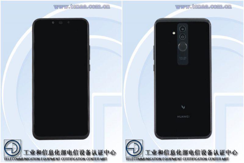 Huawei-puhelin mallikoodilla SNE-AL00 kiinalaisviranomaisen TENAAn kuvissa.