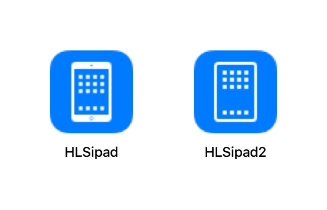 iOS-käyttöjärjestelmän sisältämä aiempi ja uunituore iPadin kuvake.