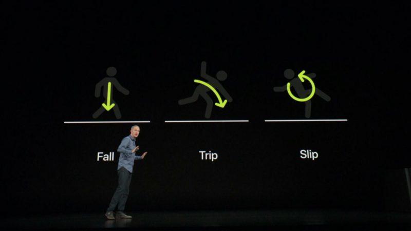 Uusi Apple Watch Series 4 osaa tunnistaa putoamiset, kompastumiset ja liukastumiset.