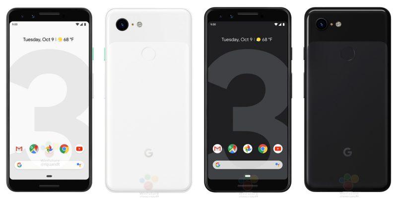 Google Pixel 3. WinFuture.den vuotamat viralliset kuvat.
