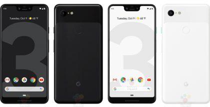 Google Pixel 3 XL. WinFuture.den vuotamat viralliset kuvat.