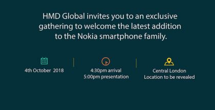HMD Globalin Lontoon tilaisuuden kutsu. Kuva: Pocket-lint.