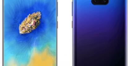 Huawei Mate 20 Pro Twilight-värissä aiemmassa WinFuture.den vuotamassa kuvassa.