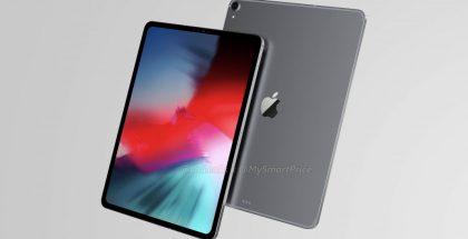 12,9 tuuman iPad Pron design OnLeaksin aiemmin yhdessä MySmartPricen kanssa julkaisemassa kuvassa. OnLeaks on varoittanut, ettei tämän paljastuksen luotettavuus välttämättä ole hänelle tavanomaisella korkealla tasolla, joten kuvan yksityiskohtiin kannattaa suhtautua vielä varauksella.