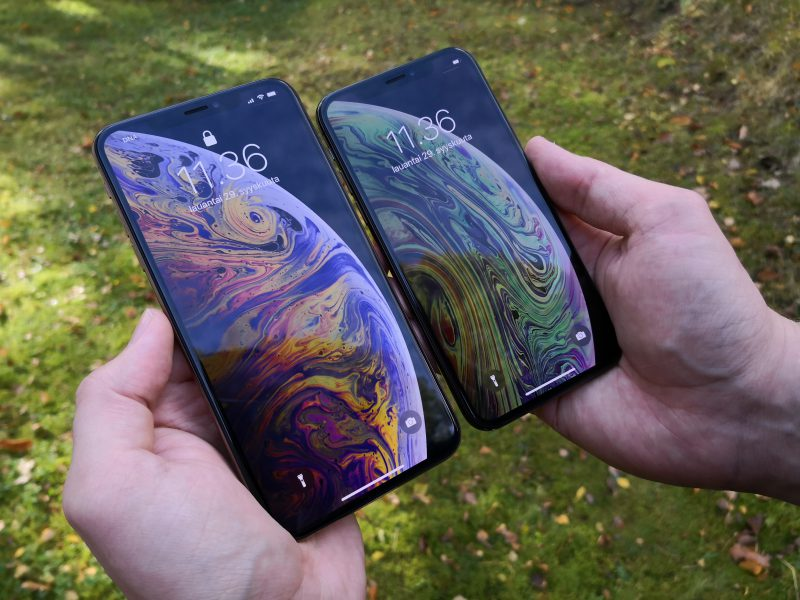 Apple iPhone XS Max ja iPhone XS.