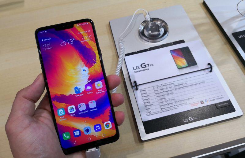 G7 Fitissä on puhtaan Androidin sijaan LG:n oma ohjelmisto.