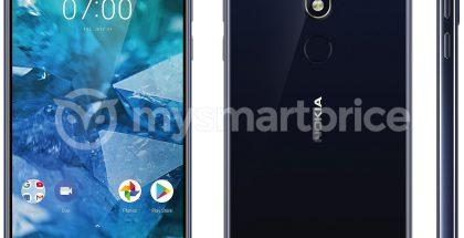 Aiemmin vuotanut väitetty virallinen kuva Nokia-älypuhelinuutuudesta. Eri puhelin kuin nyt viranomaiskuvissa nähty.