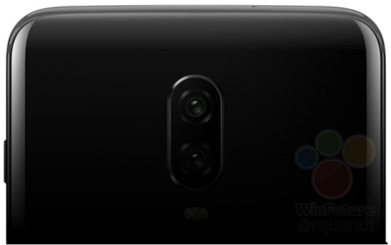 OnePlus 6T:n kaksoiskamera WinFuture.de-sivuston julkaisemassa kuvassa.