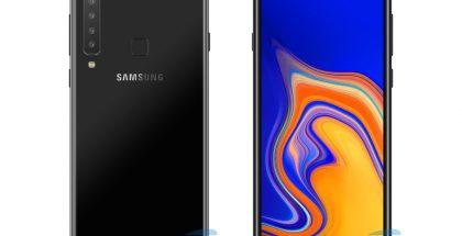 AllAboutSamsungin konseptikuva Samsungin uutuudesta lisätyllä kameralla verrattuna Galaxy A7:ään.