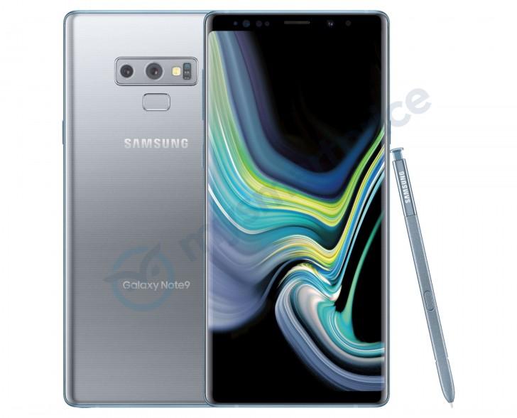 Hopeavärivaihtoehto Samsung Galaxy Note9:stä MySmartPrice-sivuston julkaisemassa kuvassa.
