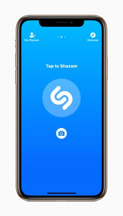 Shazam iPhone XS:ssä.