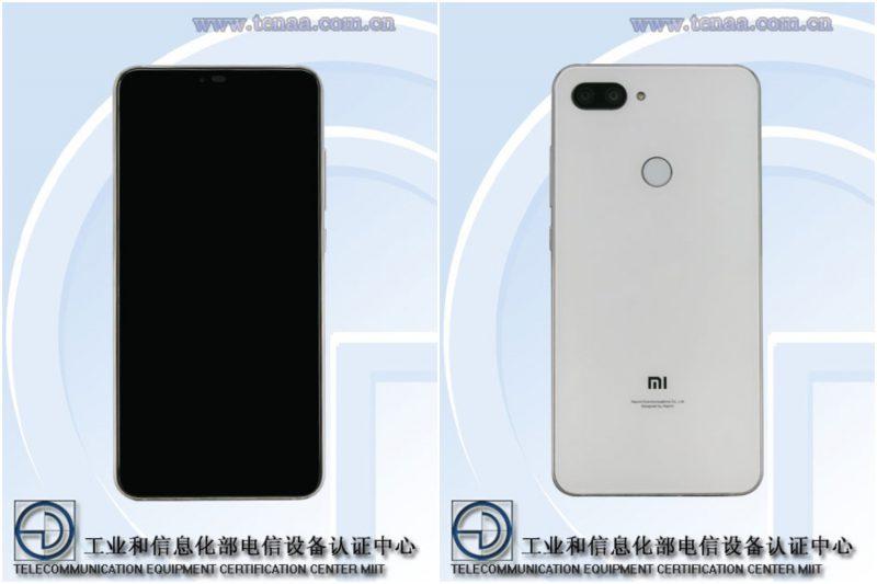 Uuden Xiaomi-puhelimen kuvat TENAAn tietokannasta.
