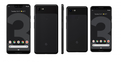Google Pixel 3 ja 3 XL Just Black.