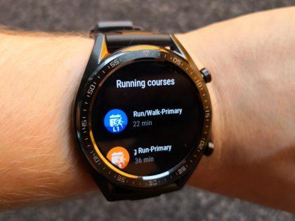 Watch GT tarjoaa erilaisia juoksuharjoituksia.