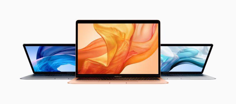 Uusi MacBook Air tulee kolmessa värissä.