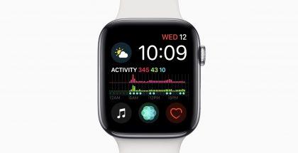 Vuorokauden aktiivisuustiedot tunnettain Infograph Modular -kellotaulussa uudessa Apple Watch Series 4:ssä.