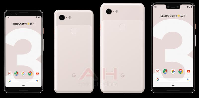 Googlen Pixel 3 ja Pixel 3 XL pinkissä Sand-värissä. Kuva: AndroidHeadlines.
