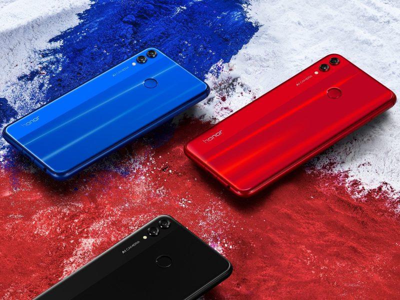 Honor 8X:n värivaihtoehdot.