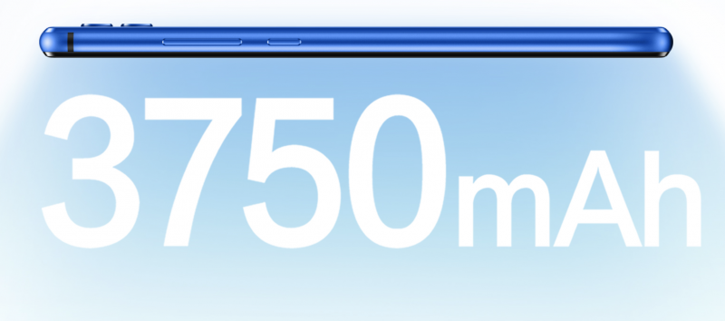 Honor 8X:stä löytyy 3 750 milliampeeritunnin akku.