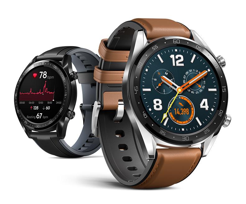 Huawei Watch GT:n alkuperäiset tyylivaihtoehdot.