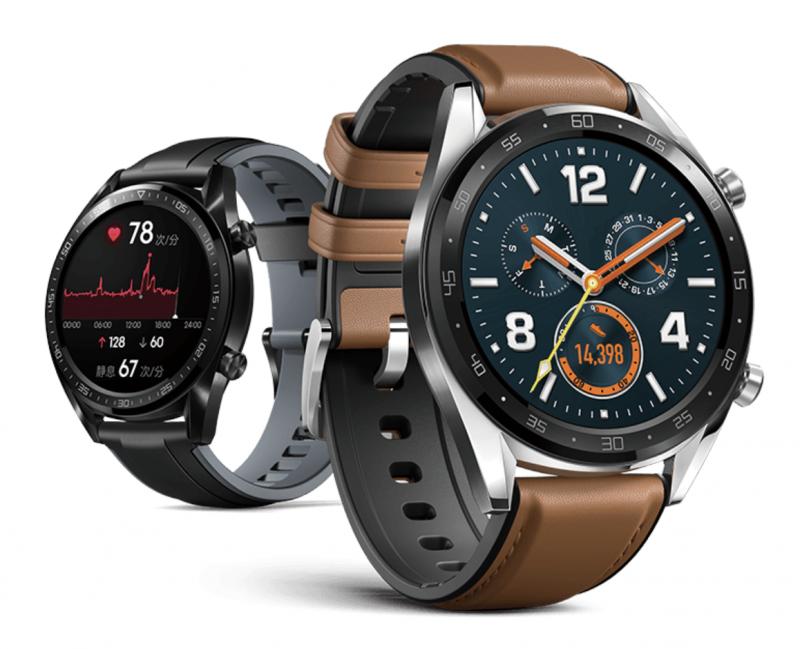 Huawei Watch GT eri tyyliversioina.