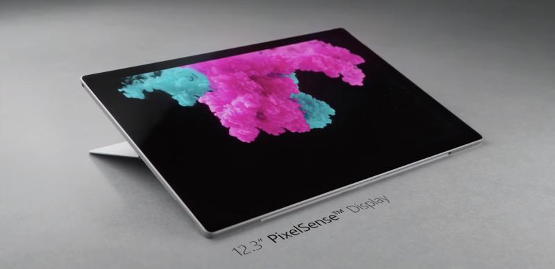 Surface Pro 6:ssa on edelleen 12,3 tuuman näyttö.