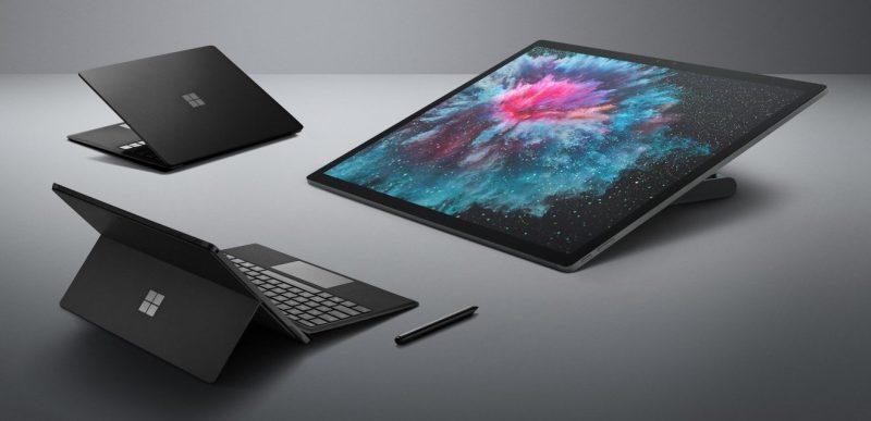 Microsoftin uudet Surfacet ovat saaneet pintaan mustaa väriä.