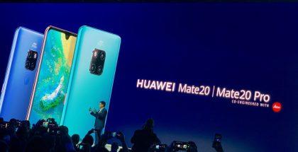 Richard Yu esitteli Mate 20 -puhelimet lokakuussa 2018 Lontoossa.