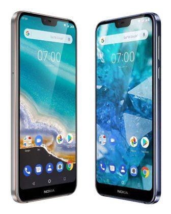 Nokia 7.1:ssä on 5,8 tuuman lovinäyttö.