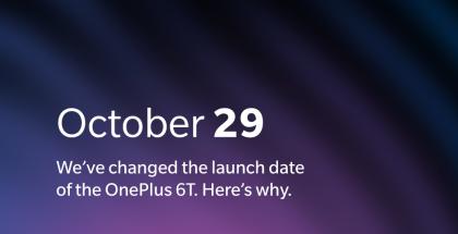 OnePlus 6T sai uuden julkistuspäivän.