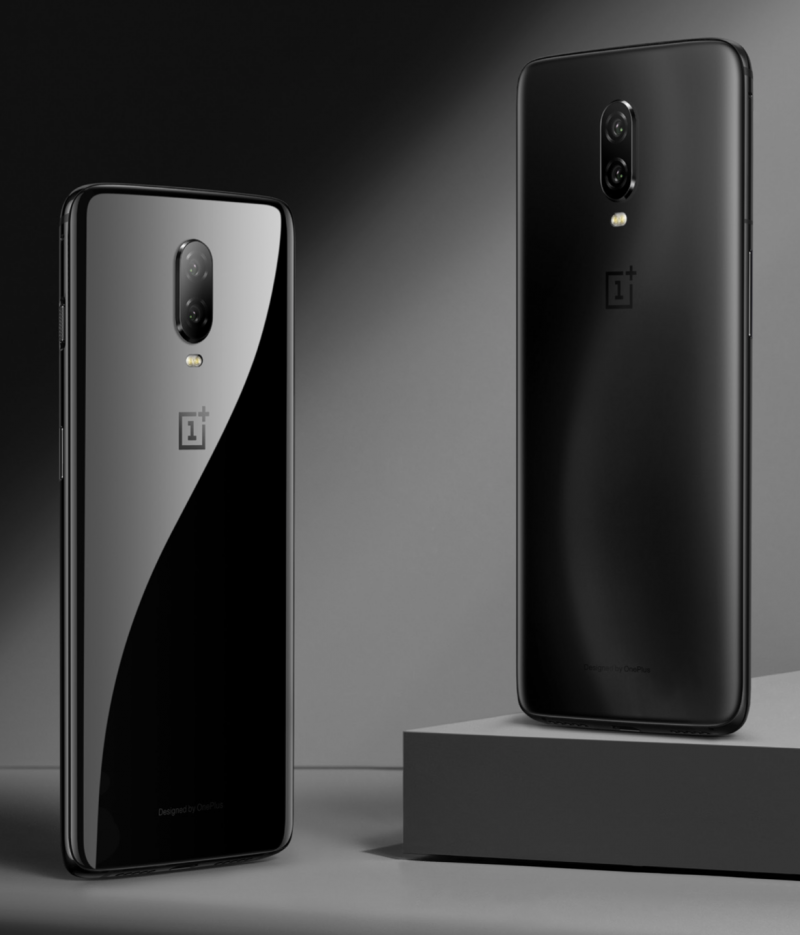 OnePlus 6T Mirror Black ja Midnight Black.