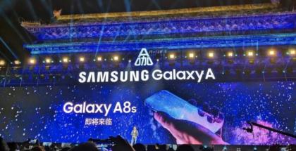 Samsungin vihjauskuva Galaxy A8s:stä ei paljastanut vielä yksityiskohtia.