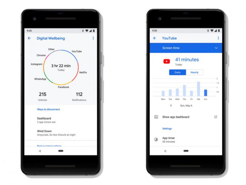 Digitaalinen hyvinvointi -kokonaisuus esiteltiin osana Android 9 Pieta.