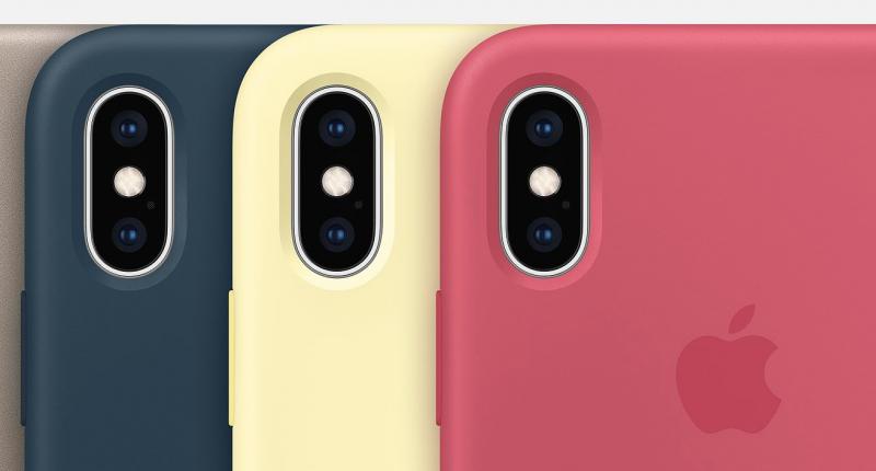 iPhone XS ja iPhone XS Maxin silikonisuojakuoresta tuli saataville kolme uutta väriä.