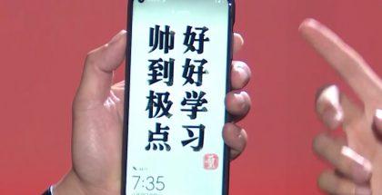 Huawein uutuudessa on aukko etukameralla näytön vasemmassa yläkulmassa.