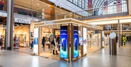Huawein uusi pop-up-palvelupiste Itiksessä.