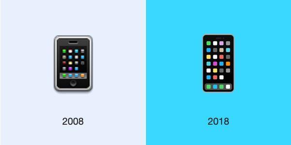 Apple päivitti puhelinemojin vasta tänä vuonna uuteen ulkoasuun, vaikka iPhone X esitteli uuden iPhone-muodon jo viime vuonna.
